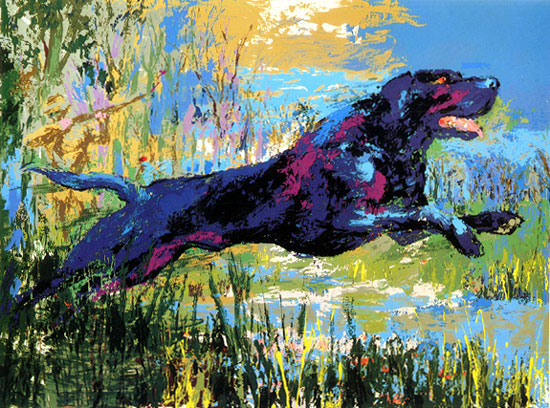 Black Labrador by LeRoy Neiman Originals call 702-222-2221 NeimansOnly.com
