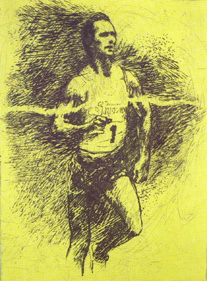 Indoor Miler, Eamon Coughlin LeRoy Neiman Originals 702-222-2221
