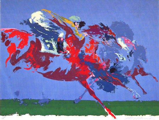 In The Stretch LeRoy Neiman Originals 702-222-2221