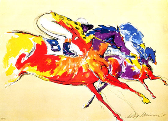 Into The Turn LeRoy Neiman Originals 702-222-2221