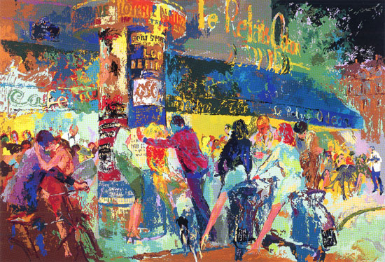 Left Bank Café LeRoy Neiman Originals 702-222-2221