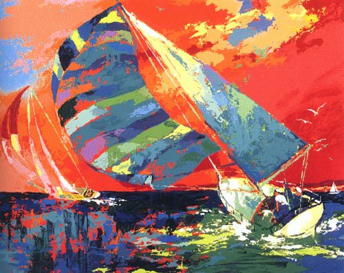 Orange Sky Sailing LeRoy Neiman Originals 702-222-2221