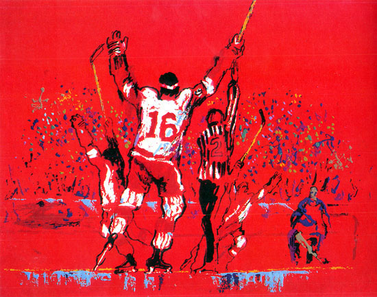 Red Goal LeRoy Neiman Originals 702-222-2221