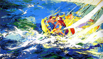 LeRoy Neiman Originals Call 702-222-2221 Aegean Sailing