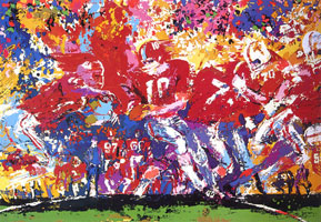 LeRoy Neiman Originals Call 702-222-2221 Alabama Hand Off