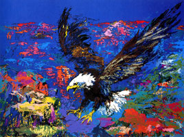 LeRoy Neiman Originals Call 702-222-2221 American Bald Eagle