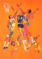 LeRoy Neiman Originals Call 702-222-2221 Basketball