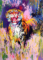 LeRoy Neiman Originals Call 702-222-2221 Bengal Tiger
