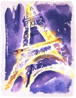LeRoy Neiman Originals Call 702-222-2221 Eiffel Tower